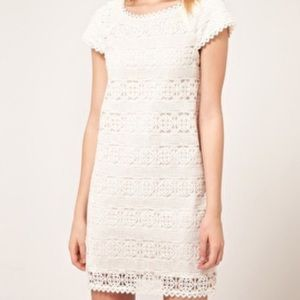 French Connection NWOTS White Lace Crochet Dress